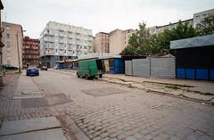 Wrocaw, Poland. (wojszyca) Tags: contax g2 zeiss biogon 21mm fuji fujicolor c200 urban city street decay urbex wrocaw