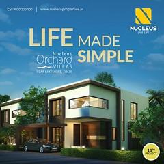 """Our 18th project """"Nucleus Orchard"""" Premium Villas near Lakeshore, Kochi!  Poignance. Style. And glamour. Located on the coast of the Arabian Sea, this is what Kochi is the thriving city life, pulsating beats. Nucleus Premium Properties has made it a point (nucleusproperties) Tags: life beautiful kochi elegant style kerala realestate kottayam lifestyle india luxury villa comfort apartment nature architecture interior gorgeous design elegance environment beauty building exquisite view city construction atmosphere home living"""