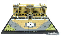 Building process - Placing the completed rooftops (WhiteFang (Eurobricks)) Tags: lego architecture set landmark country buckingham palace victoria elizabeth royal royalty family crown jewel imperial statue tourist united kingdom uk micro bus taxi