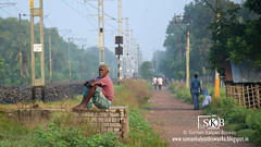 Loneliness : Sitting Alone (Suman Kalyan Biswas) Tags: portrait portraiture streetphotography candidphotography bethuadahari westbengal india sitting west candid street loneliness depression alone unhappy bengal nadia nakashipara oldage life morning expression thoughtfulness landscape nature