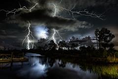 Florida Lightning (Bobby Wummer) Tags: thunderclouds thunderstorms storms stormchaser stormchasing lightning florida seascape ocean oceanstorm oceanscape outdoors weather palm beach island thunder landscapephotography photography longexposure