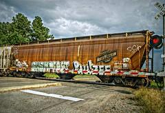 It's a lot easier (builder24car) Tags: railroad graffiti streak northwestern railroadcrossing rollin csx trainart moniker coaltrain swampfoot freighttraingraffiti paintedboxcar benchingthefreights paulzee