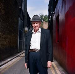 William - Seven Sisters Road (deepstoat) Tags: street portrait irish london 120 hat mediumformat gent dapper kodakportra yashica124g