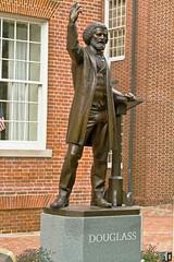 Frederick Douglass (Thad Zajdowicz) Tags: sculpture history statue architecture bronze canon eos outdoor maryland 7d publicart dslr easton orator frederickdouglass talbotcounty zajdowicz
