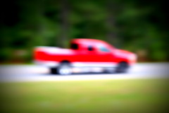 red truck (lensbaby) (xthylacine) Tags: red usa abstract blur verde green art lensbaby america truck canon georgia aka eos us movement blurry lomo rojo arty south pickup move southern artsy transportation vehicle americana abstraction callaway vignette midori unitedsates hcallaway xthylacine