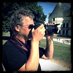 Me making photos at castle Chambord, France