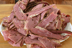 Mmm... home made pastrami (jeffreyw) Tags: beef homemade sliced cornedbeef pastrami