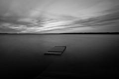 Laiturinpätkä 2 (Sami Kaukolinna) Tags: sunset sky lake maisema vesi ranta järvi auringonlasku laituri taivas tamron1750mmf28 hoyapro1circularpl canoneos550d hoyapro1nd64 laiturinpätkä