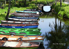 Boats For Hire Explored Sep 10, 2012 #43 Ross Castle Killarney (Tess Mc Kenna Home) Tags: closeup reflections boats killarney cannon tessmckenna