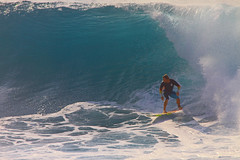 backhand (bluewavechris) Tags: ocean sea sun water fun hawaii surf ride action surfer board wave maui surfboard thebay swell bigwave honoluabay honolua