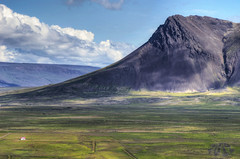 Loneliness (Fil.ippo (on vacation)) Tags: travel panorama mountain green nature landscape island iceland nikon loneliness viaggio filippo paesaggio isolamento islanda solitudine d7000 filippobianchi