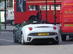Ferrari California 2 Plus 2 (kenjonbro) Tags: california uk england london westminster grey 22 spider rear trafalgarsquare convertible ferrari spyder cabrio 2009 charingcross sw1 2plus2 fujifilmfinepixs100fs kenjonbro fj59gnn