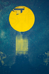 City of sun and stars (yellowgreywolf) Tags: sea abstract water sign bluecolour yellowcircle yellowgreywolf