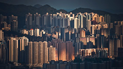 (jim_213) Tags: city sunset sun buildings hongkong sony a55 sal70300g