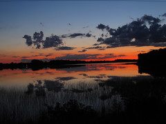 060 (2) (wannabephotographical) Tags: sunset lake minnesota symmetry devilslake