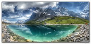Fallboden - Eiger Nordwand Panorama