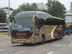 Parks of Hamilton Volvo B13R HSK647 Glasgow 01/09/12 (David_92) Tags: gold volvo glasgow hamilton parks scottish elite hsk citylink plaxton 647 b13r hsk647