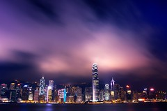 The Clouds Roll Through (DPGold Photos) Tags: china city travel building night hongkong boat nikon asia cityscape