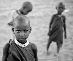 tanzania - masai (peo pea) Tags: africa portrait people blackandwhite bw lake tanzania bn serengeti ritratti masai bianconero natron