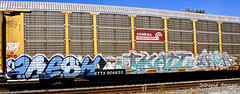 fresh  -  jkat  -  irok (INTREPID IMAGES) Tags: street railroad abstract color art train bench graffiti fan paint steel painted graf tracks rail railway trains tags images fresh railcar intrepid writer boxcar graff railfan freight rolling gr8 paintedtrains fr8 railbox irok benching railroadgraffiti jkat paintedsteel railer sstreetart intrepidimages
