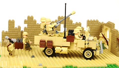 German C15 and Bofors (Florida Shoooter) Tags: dak afrikakorps legoww2 boforscannon capturedvehicle canadianc15
