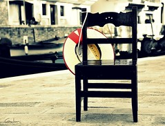Venice 1 (Faraplictiseala) Tags: old city venice red italy hat boat chair europa europe grand gondola venezia venetia gondolier canale venezzia