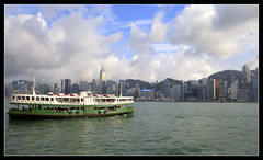 Star Ferry in Hong Kong (discopalace) Tags: ocean china travel water ferry hongkong boat asia starferry hongkongharbour hongkongharbor hongkongbay