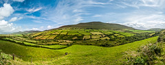 dingle peninsula panorama - ireland (laughlinc) Tags: ireland panorama clouds landscape countryside panoramic fields circularpolarizer dinglepeninsula 1755mmf28 lr4 nikond80 laughlinc pse10