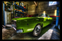 Stuttga R/T (Kemoauc) Tags: green car nikon garage dodge rt hdr charger musclecar topaz photomatix oscw d300s kemoauc