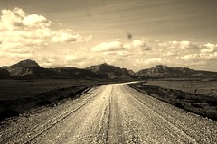 (Missoulan pictures) Tags: road cliff black sepia leaf montana great lewis bumpy