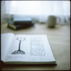 sketchbook (sue.h) Tags: sketchbook mug instant notebooks hasselblad500cm instantfilm polaroidback fp100c fujifp100c
