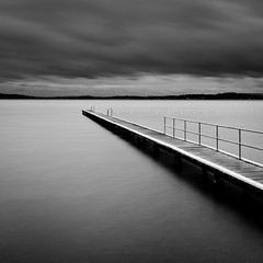 Sun dial (Darius Darkly) Tags: longexposure white lake black water pier nikon moody belmont filter le centralcoast lakemacquarie d600 nd400 nd9