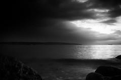 English Bay Seascape 02 (Brian Kushniruk) Tags: blackandwhite bw seascape monochrome vancouver oceanside stanleypark fujifilmx100