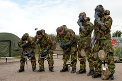 121003-A-3994P-015 (HQ Allied Rapid Reaction Corps) Tags: uk training soldier army cornwall rehearsal management situation nato decontamination nrf respirator publicaffairs rafstmawgan jointtraining cbrn chemicalsuit arrc promask natoresponseforce alliedrapidreactioncorps s10respirator exercisenobleledger arrcsptbn