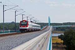 CPA a cruzar o Sado (Nohab0100) Tags: bridge rio train river ponte alfa cp alstom sado tilting comboio 4000 alcácerdosal pendular fiatferroviaria