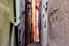 Crooked (Tanya.Kirilova) Tags: street faade faades medieval green gray oldhouses nikond7100 cheb eger czechrepublic geometry geometrie composition lines urban urbanabstract urbantexture texture