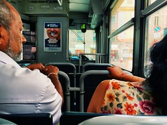 Couple in Milano tramway (romain.cacace) Tags: inside transport couple tramway travel photography arty people milano milan