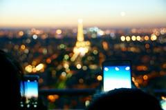 Bokeh Eiffel Tower (ayeupmeduck) Tags: bokeh eiffel tower montparnasse tour paris france phones night evening dusk