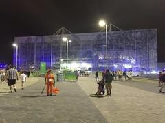Aquatic Centre at night