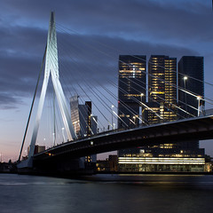 Rotterdam City (Geoffroy Hauwen) Tags: canon 28mm city cityscape bridge skyline immeuble erasmus rotterdam