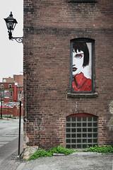 Window Watcher (Adam Curran) Tags: saint john saintjohn new brunswick newbrunswick nbphoto nikond3300 d3300 nikkor building window art painting outdoors outdoor wall alley alleyway street
