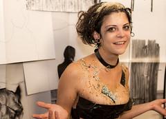 messy JuLILA I (HACHIMAN.) Tags: messy mess food old girl portrait wet liquid sugar sticky dirty film shortfilm set