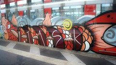 Graffiti (Honig&Teer) Tags: honigteer hannover hbf hauptbahnhof db dbregio deutschebahn spraycanart sport sbahn steel eisenbahngraffiti eisenbahn railroad railroadgraffiti railways train treno traingraffiti trainart aerosolart vandalismus graffiti