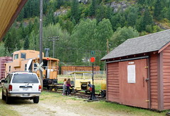Here Comes the Train! (arrowlakelass) Tags: castlegar bc canada museum children railfans p1060648edit