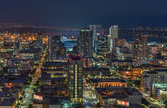 Downtown San Diego Skyline (without reservation) Tags: sandiego california night city cityscape downtown downtownsandiego eastvillage gaslamp petcopark themark sonya7r