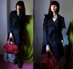 Ready For Autumn Sonii S., Student  Germany (9lookbook.com) Tags: allblack artistic autumn bag bangs black blackcoat blackdress blackgreen blackhat blackred brunch casual chiffon chinese coat comfortable cozy cute date datenight doll dress dresslily elegant evening fall forever21 formal galaxy gamiss glamor glamorous goth gothic greenblack grunge hat lace leggings lipstick longhair music office outwear pumps purplelips red redbag reddress redhair redlips redlipstick redtelephonebooth scarf shortdress sleeve sleeves streetchic studs tea thebeatles tights winter work