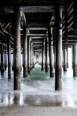 Ghost Pier | Santa Monica Beach, CA (elicarpenter) Tags: california santa monica santamonica pier ocean water creepy longexposure