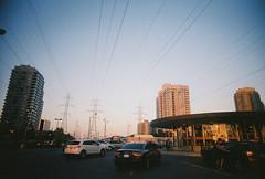 F11 (takeitslowlyy) Tags: film 35mm kodak toronto canada finch sunset cablelines
