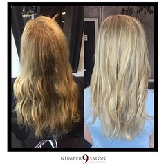"Love, love, loving this before and after of a heavy highlight by stylist, Kelsey. #highlights • <a style=""font-size:0.8em;"" href=""http://www.flickr.com/photos/41394475@N04/29252767923/"" target=""_blank"">View on Flickr</a>"