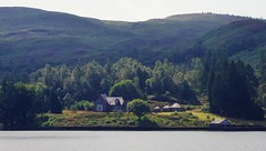 "Queen Victoria's ""Cottage"" - that she never stayed in.... (brightondj - getting the most from a cheap compact) Tags: thirdwalk scotland trossachs lochkatrine water loch queenvictoria cottage"